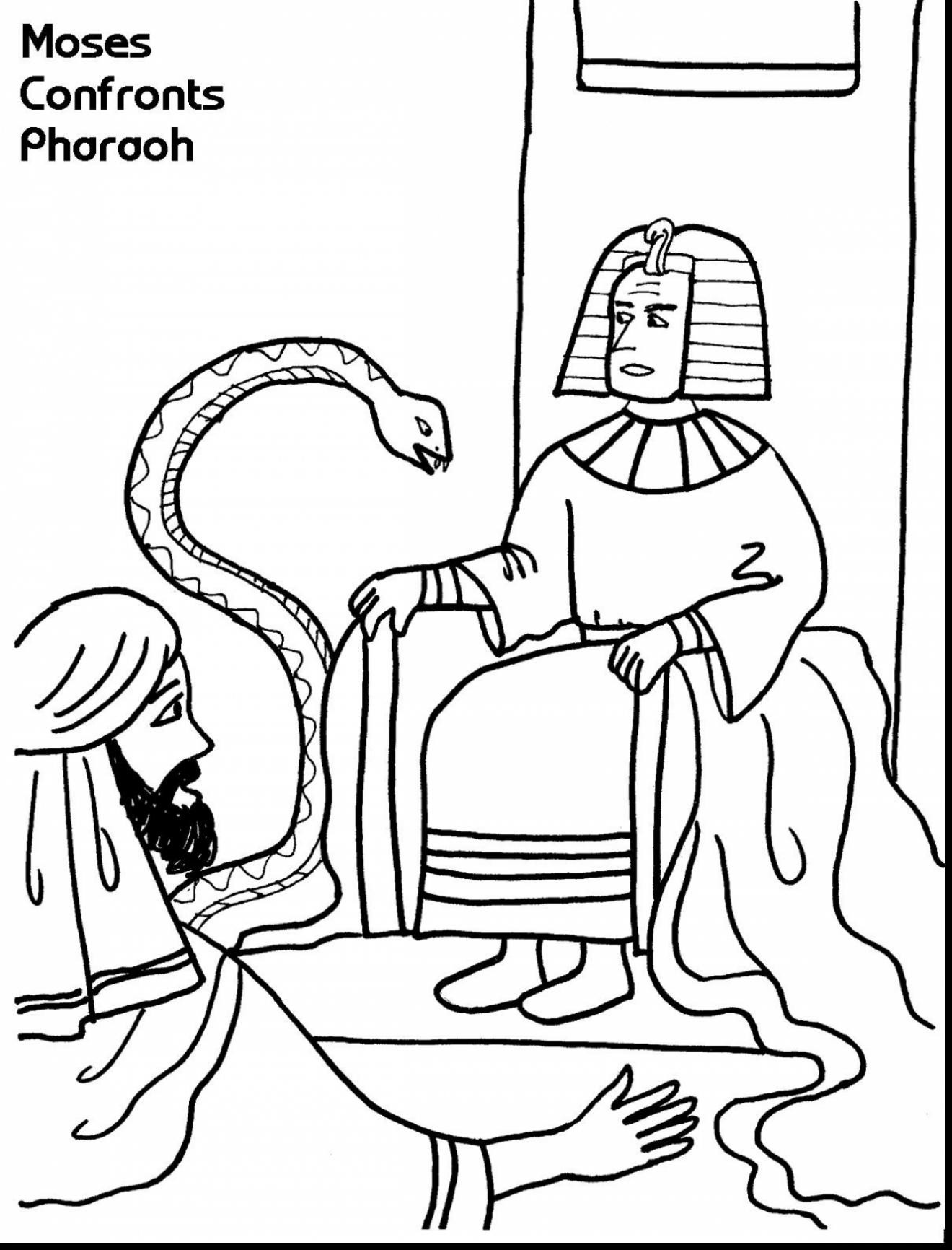 1320x1732 Pharaoh Moses Coloring Pages Beautiful Outstanding Moses
