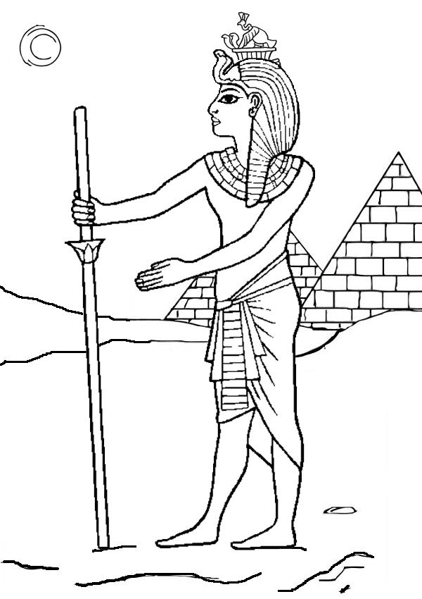 600x850 Pharaoh Coloring Pages Pharaoh Coloring Pages Funycoloring