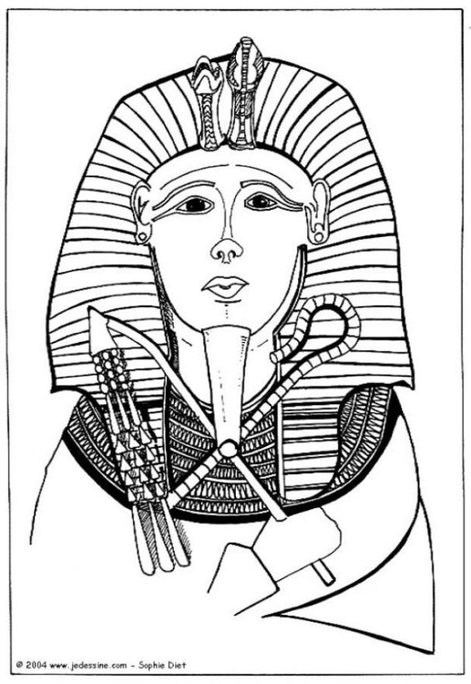 517x750 Coloring Page Pharaoh