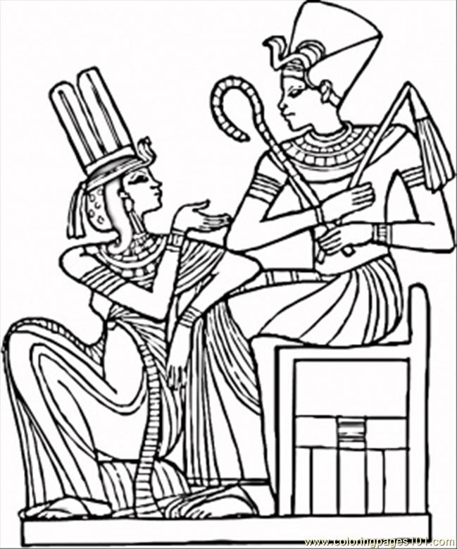649x779 Egyptian Pharaohs Coloring Page