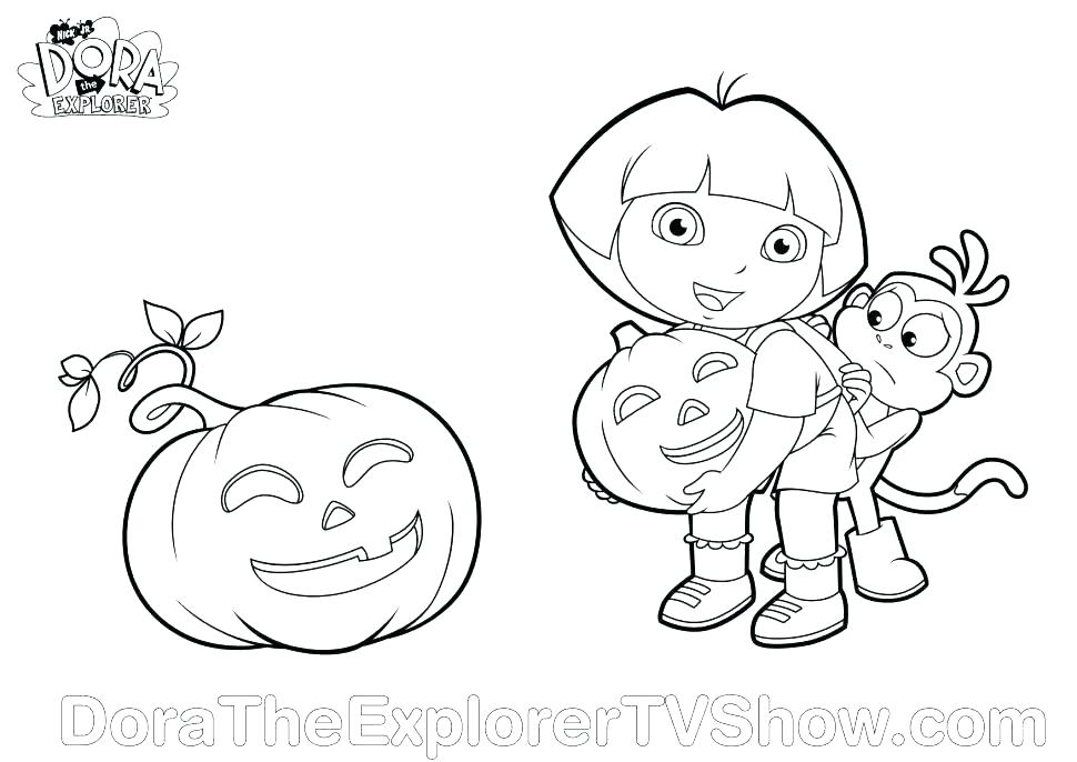 970x686 Dora Halloween Coloring Pages Coloring Page Dora Halloween