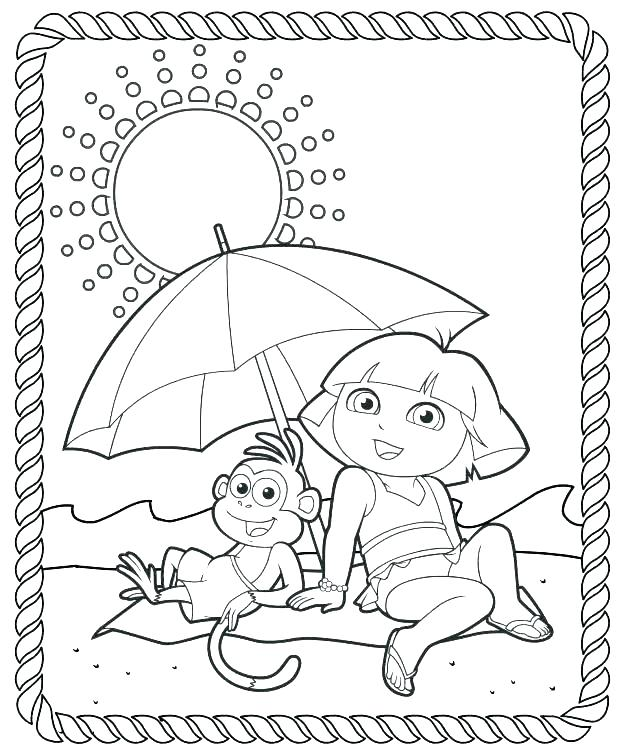 619x749 Dora To Color The Explorer Coloring Page Hello Dora Coloring Pages