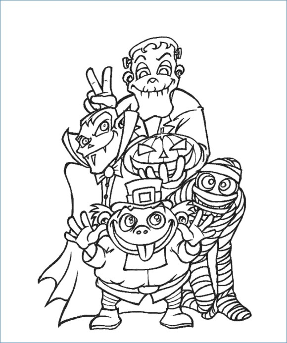 580x693 Haunted House Coloring Page Halloween Coloring Page