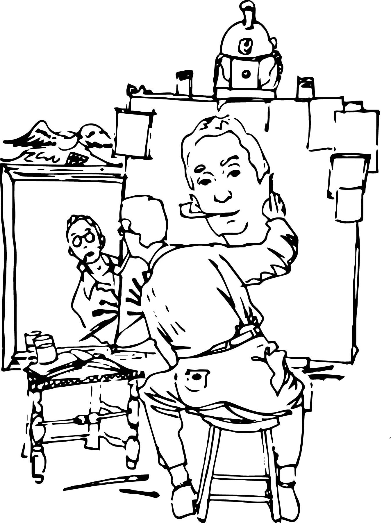 1345x1799 Norman Rockwell Coloring Pages Norman Rockwell And Norman