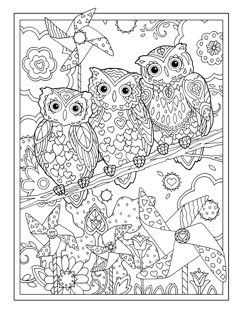 927x1200 Owls Marjorie Sarnat Design Illustration