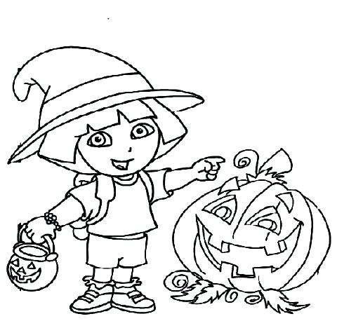 480x468 Coloring Pages Coloring Pages Free Printable Word Dora Halloween