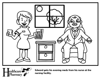 345x266 Coloring Sheets Healthcare Pharmacy