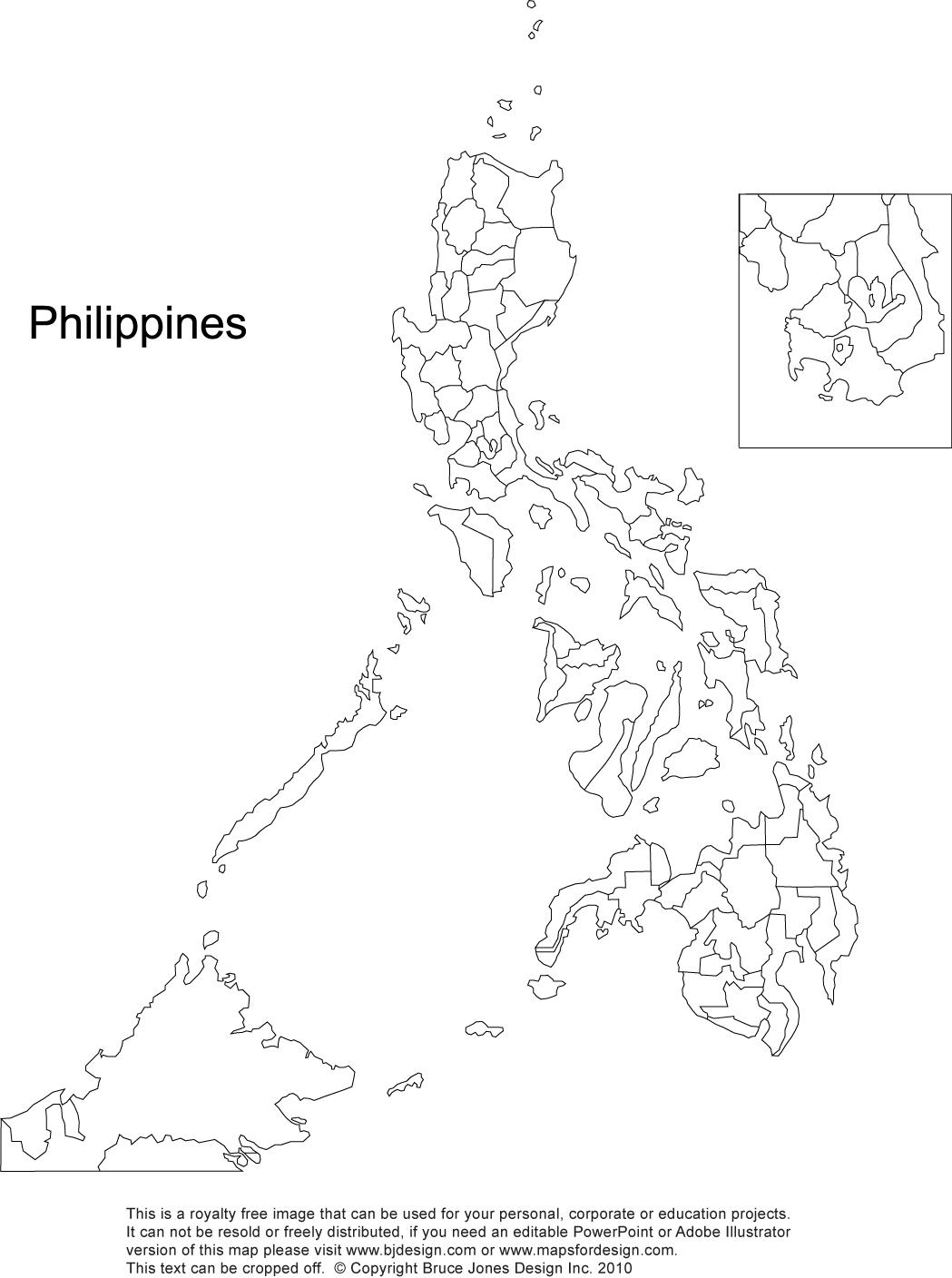 1049x1408 Philippines Printable, Blank Maps, Outline Maps Royalty Free