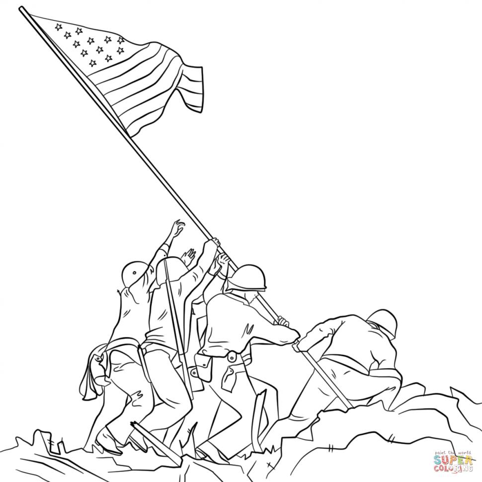 970x970 Cuba Flag Coloring Page