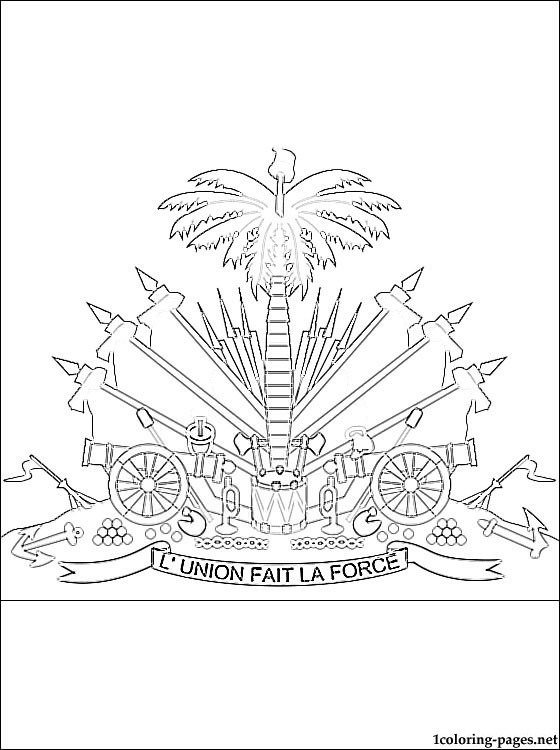 560x750 Flag Of Haiti Coloring Page
