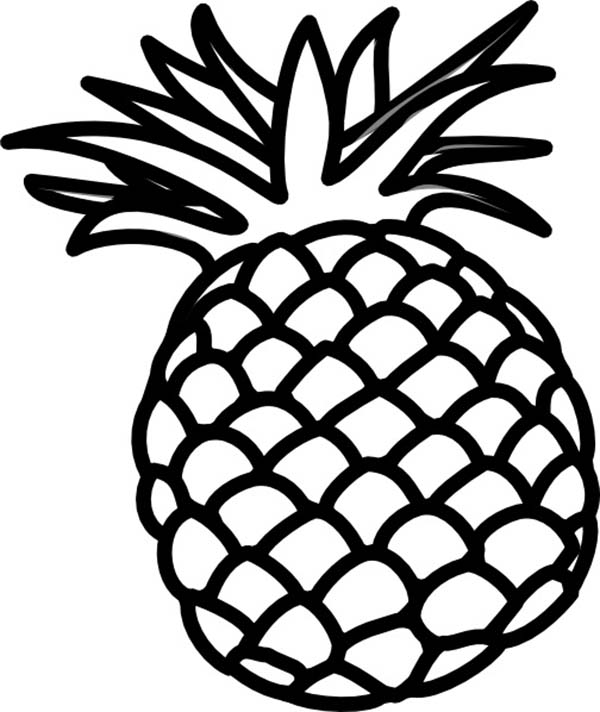 600x712 Philippines Queen Sweetest Pineapple Coloring Page