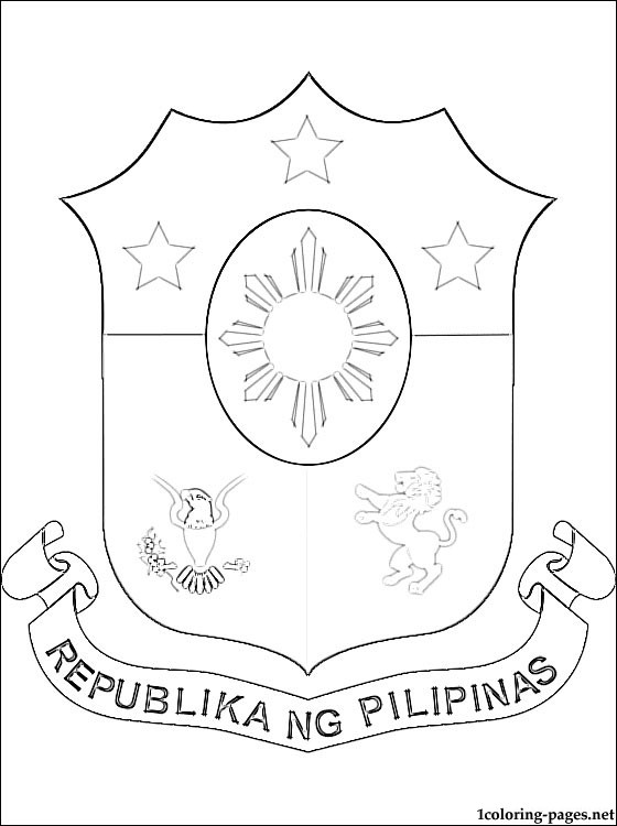 560x750 Philippines Coat Of Arms Coloring Page Coloring Pages