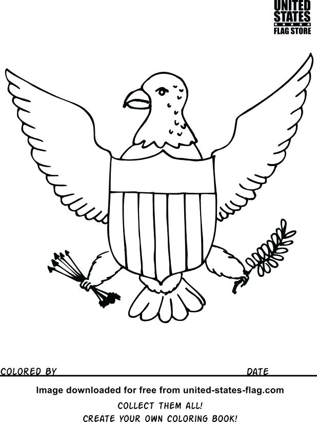 618x823 Us Symbols Coloring Pages Flag Coloring Book Awesome Projects