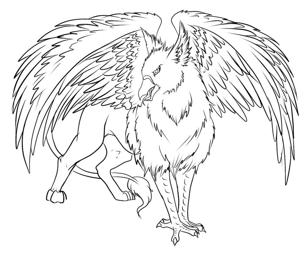 Phoenix Bird Coloring Pages