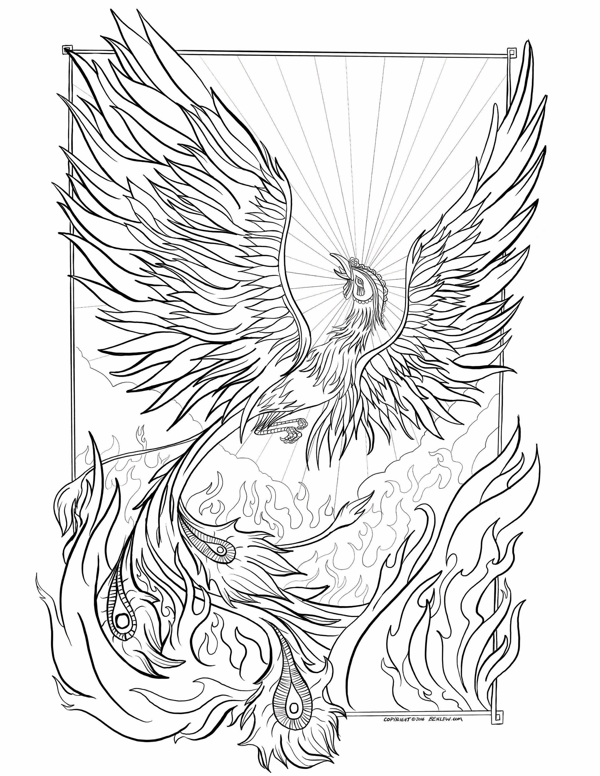 2550x3300 Fresh Coloring Pages Phoenix Breadedcat Printable To And Print