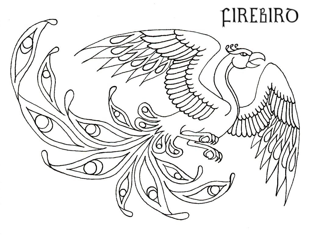 1023x780 Phoenix Coloring Pages