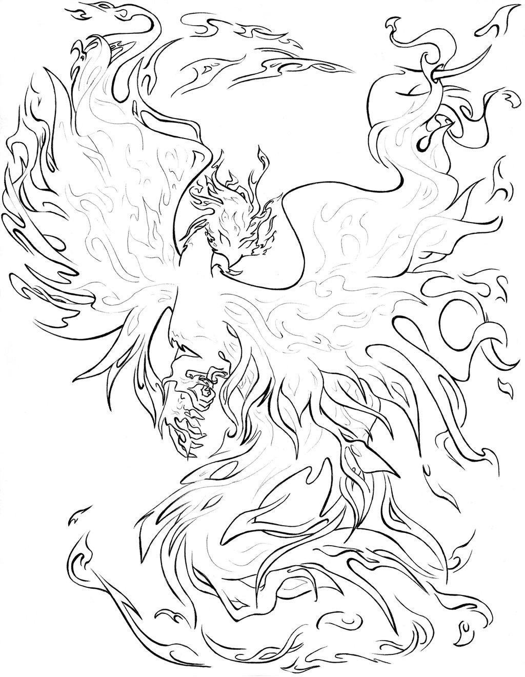 1024x1320 Phoenix Coloring Pages