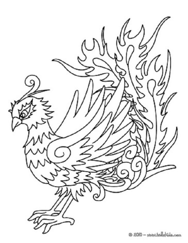 650x839 Coloring Pages Of Phoenix Bird Coloring Pages