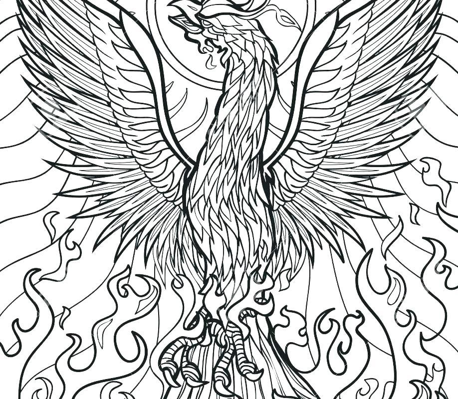 918x800 Phoenix Coloring Pages
