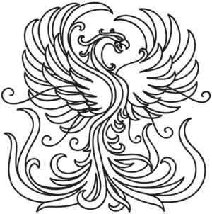 300x302 Phoenix Rising Drawing Color
