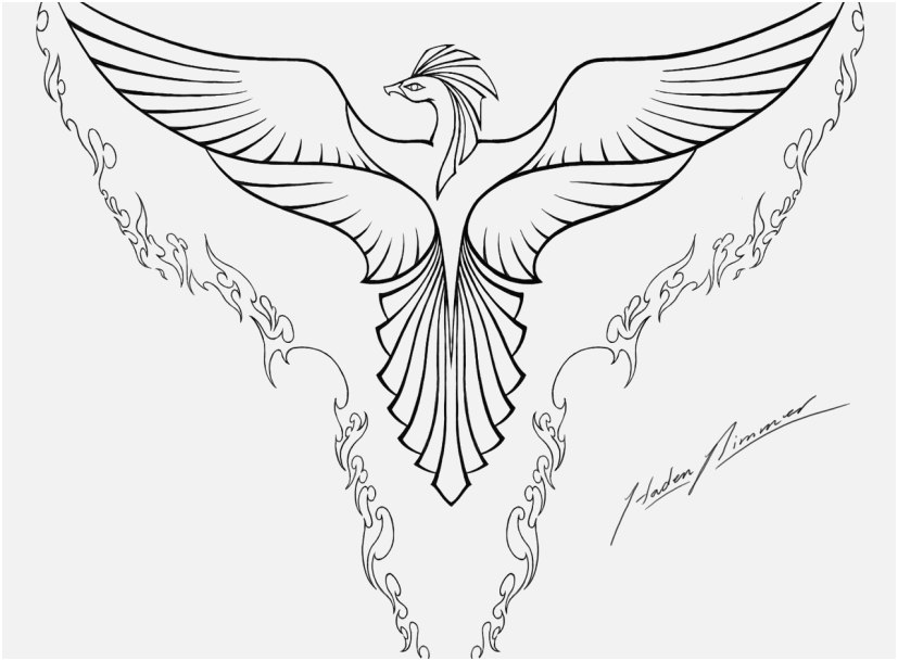Phoenix Coloring Pages For Adults