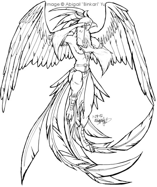 Phoenix Coloring Pages Free