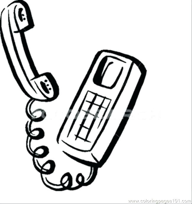 650x693 Cell Phone Sally Coloring Pages Telephone Fresh For Cell Phone