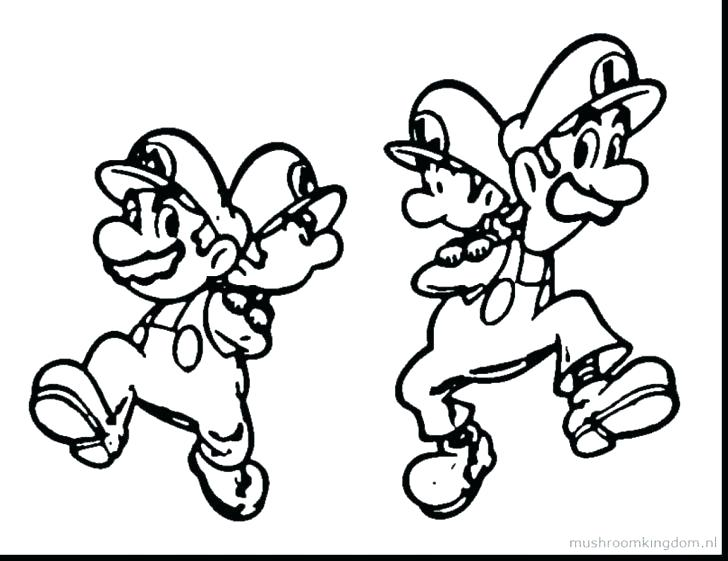 728x561 Mario Luigi Coloring Pages Coloring Page Coloring Pages