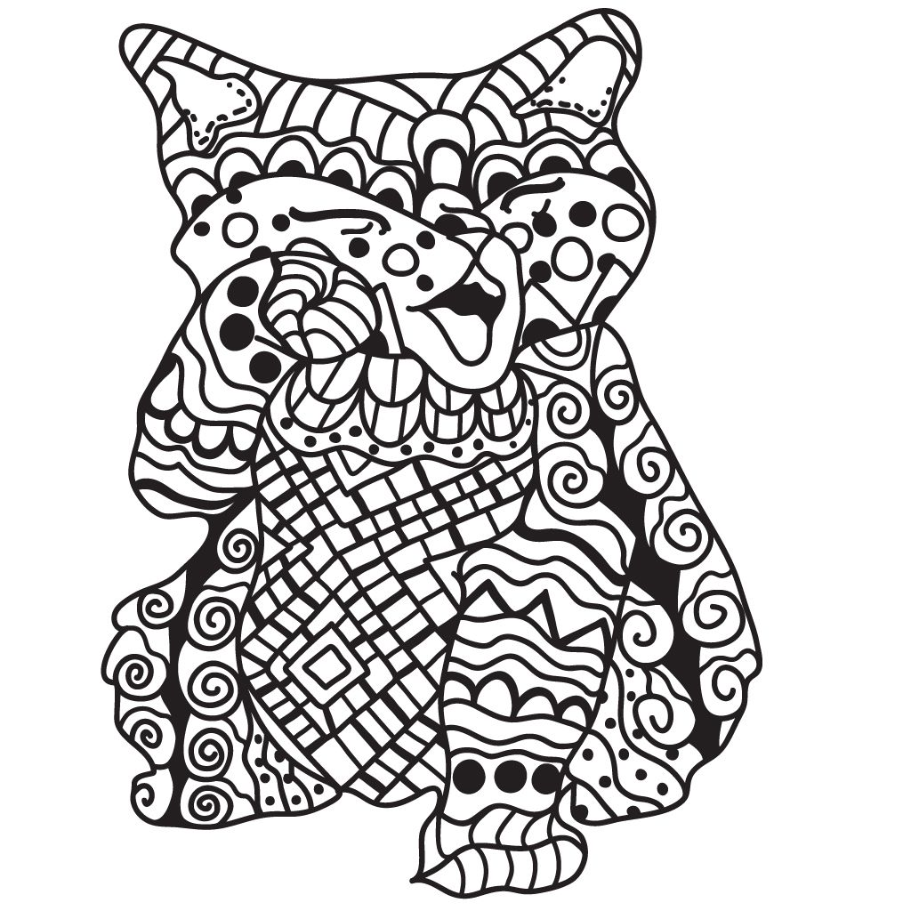 1024x1024 Cat Coloring Pages For Adults Free For Android, Ios And Windows