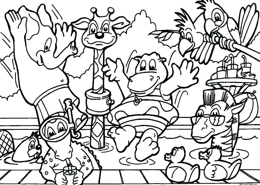 863x614 Zoo Coloring Pages Zoo Coloring Pages Free Printable A Free Zoo