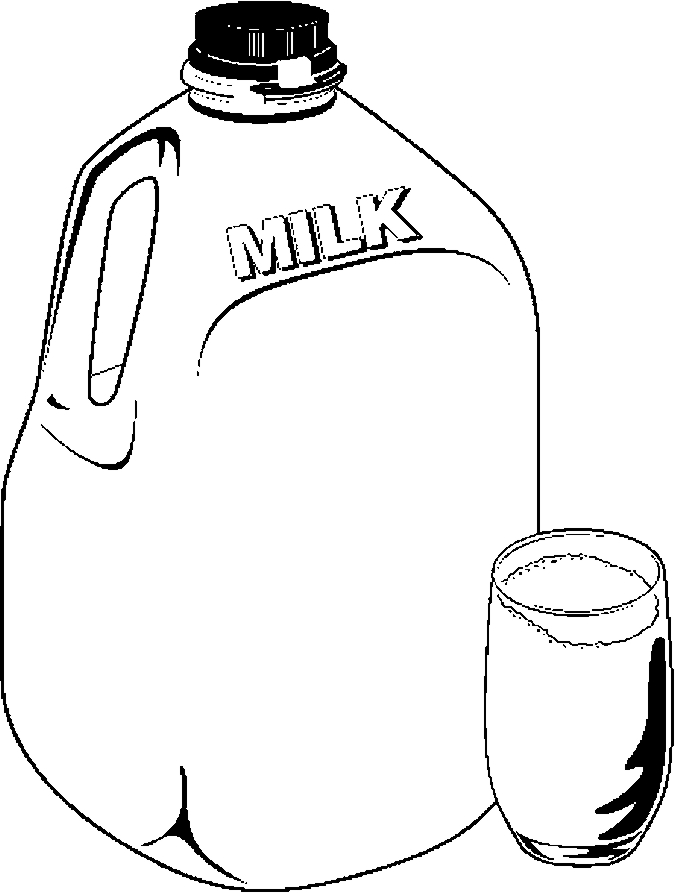 675x893 Milk Jug Glass Frame Coloring Page