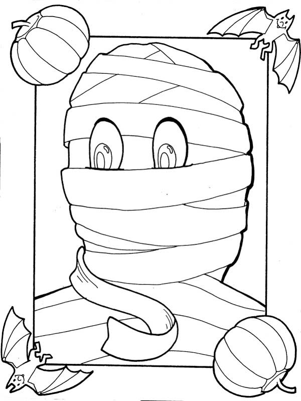 600x799 Mummy Photo Inside Frame Coloring Page