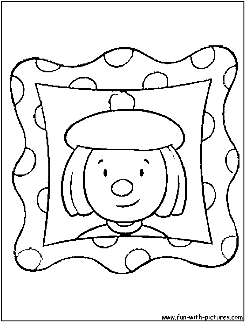800x1050 Picture Frame Coloring Page