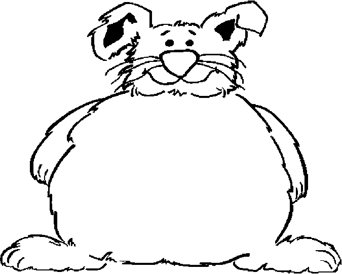675x540 Fat Bunny Frame Coloring Page