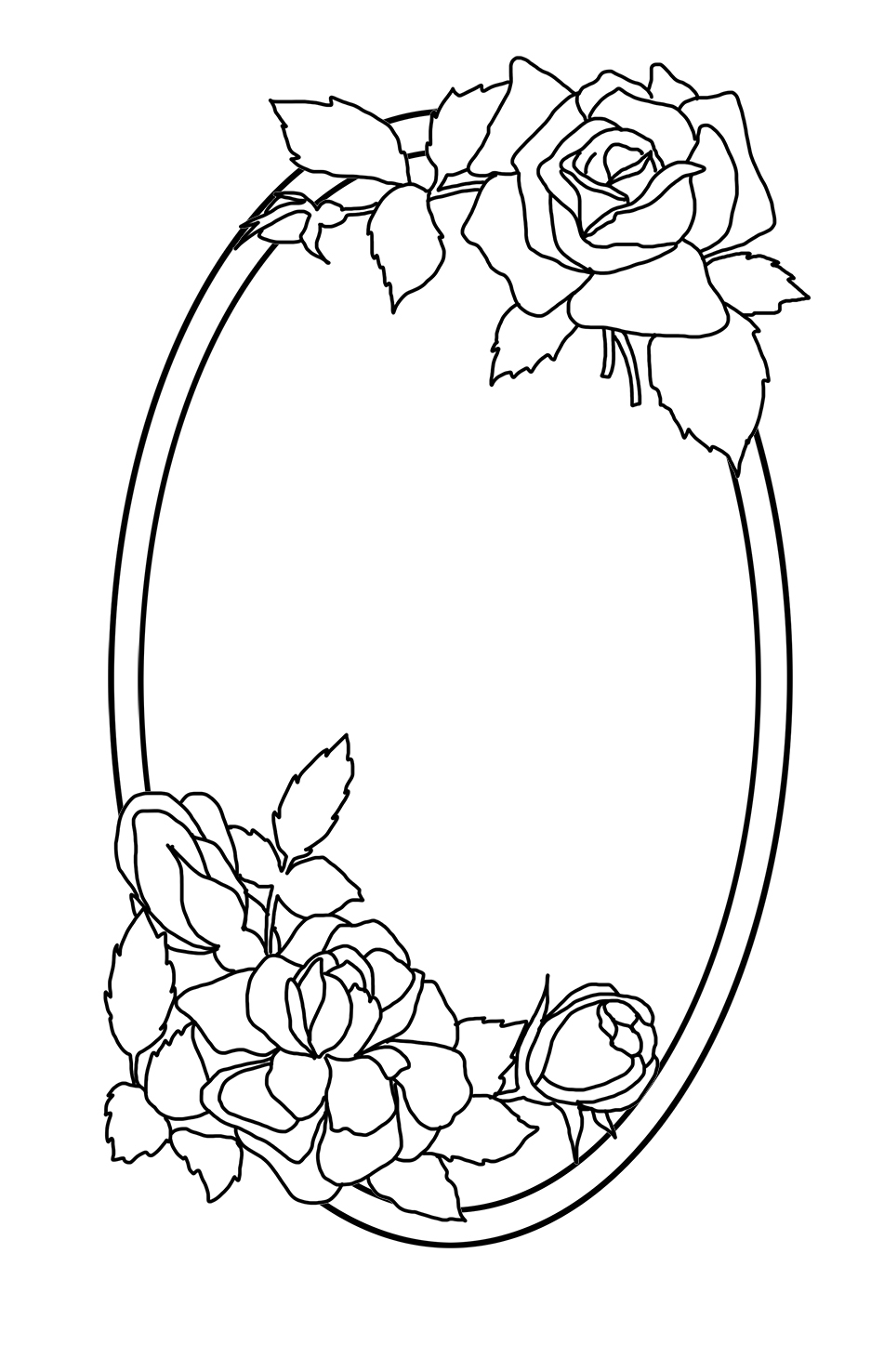 951x1476 Flower Coloring Pages