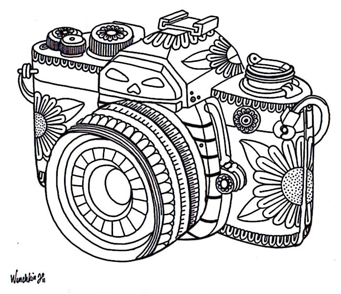 Photography Coloring Pages
