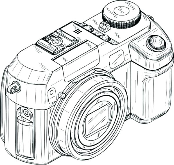 600x571 Digital Coloring Pages This Is Camera Coloring Page Images Digital