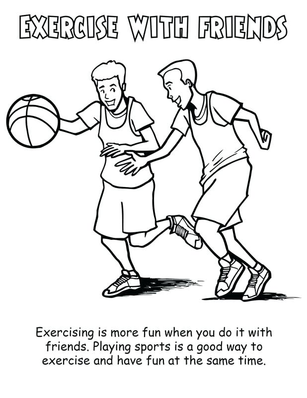 618x800 Health Coloring Pages Physical Fitness Colouring Pages Page