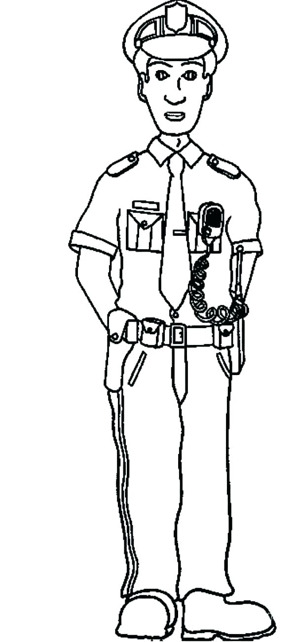 600x1301 Police Officer Coloring Page Pages And Pi Female