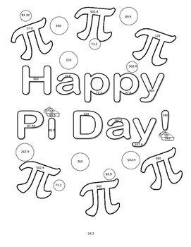 271x350 Pi Day Coloring Sheets