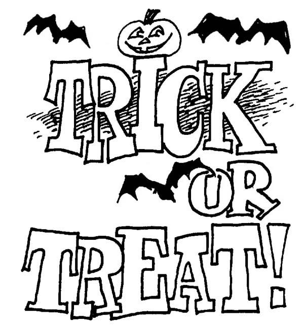 600x647 Trick Or Treat Coloring Page