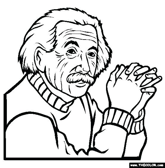 554x565 With Pictures Wore Glasses Coloring Pages Albert Einstein Coloring