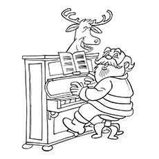 Piano Keyboard Coloring Page