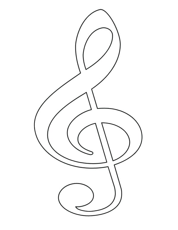 600x776 Treble Clef Coloring Page Treble Clef More Coloring Pages Music I