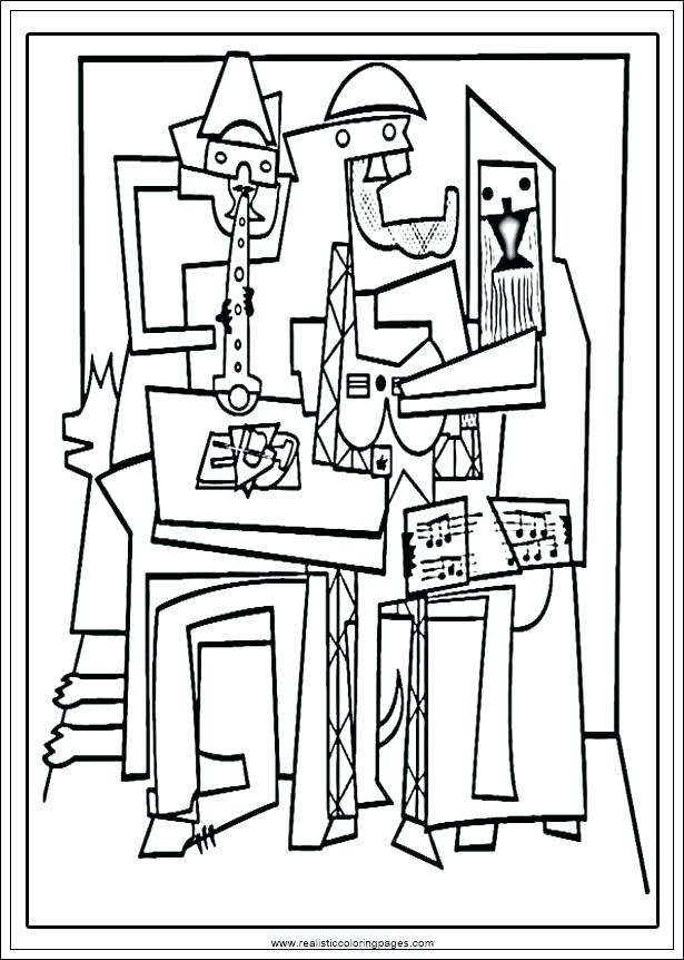 615x862 Pablo Picasso Coloring Pages Coloring Pages Coloring Page