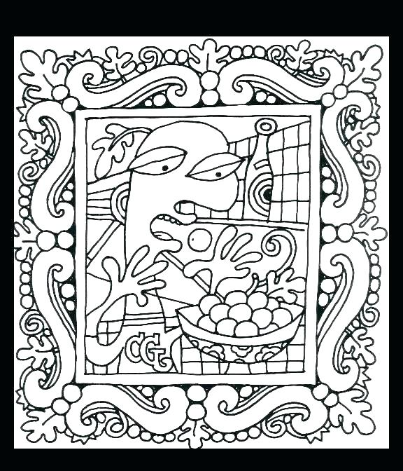 576x672 Pablo Picasso Coloring Pages Coloring Pages Continue Reading