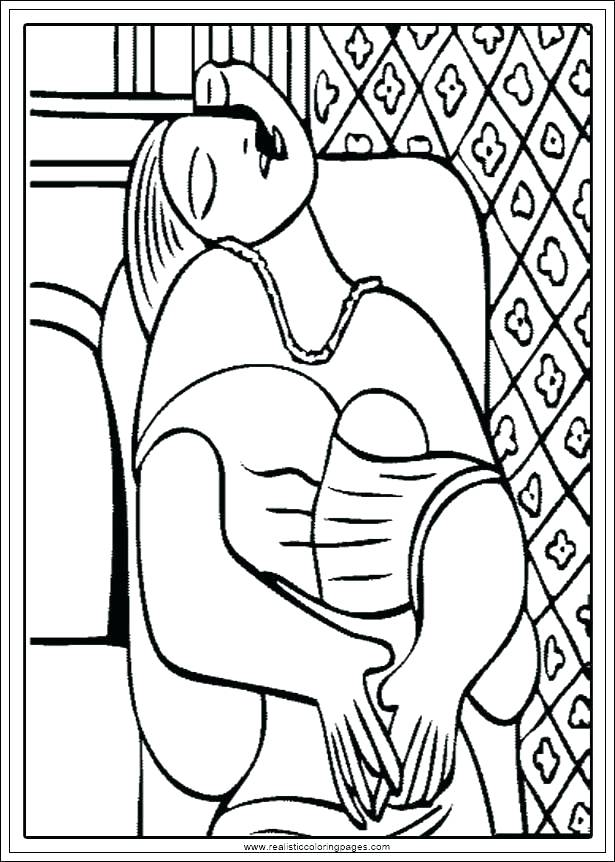 615x862 Pablo Picasso Coloring Pages Coloring Pages Free Printable Free