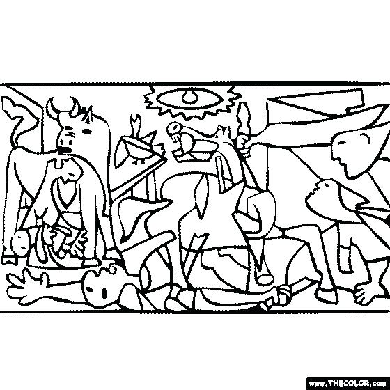 560x560 Pablo Picasso Coloring Pages Coloring Pages Pablo Picasso