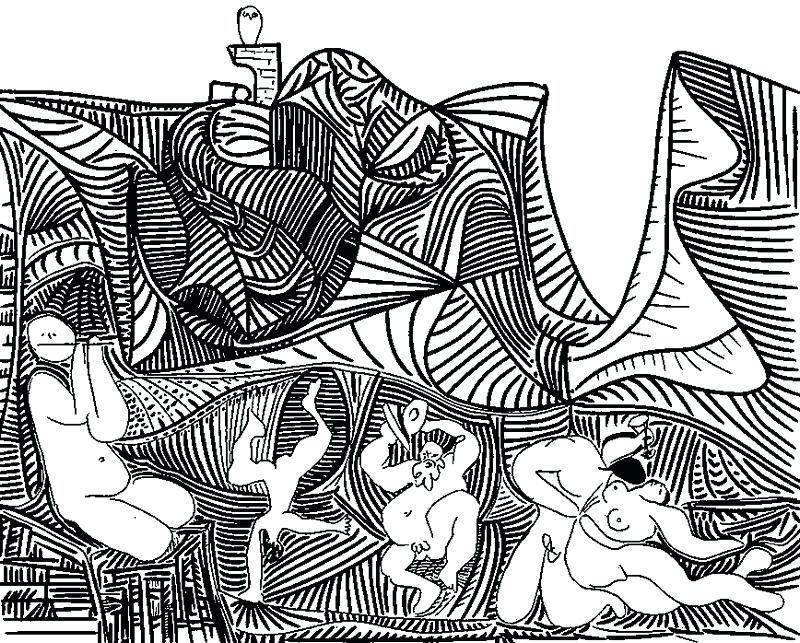 800x643 Adult Coloring Pages Adult Coloring Page Pablo Picasso Colouring