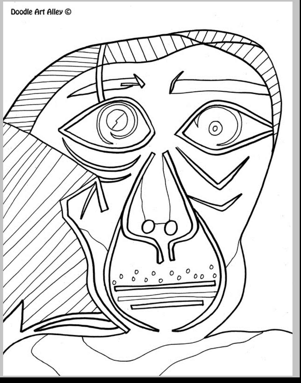 964x1228 Pablo Picasso Coloring Pages Download Coloring For Kids